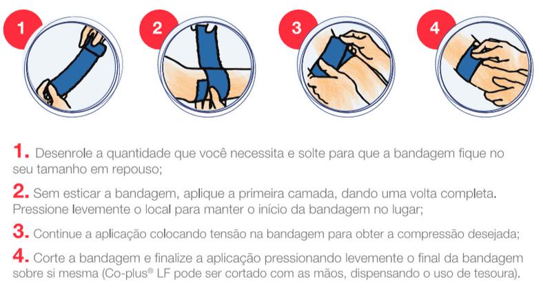 Bandagem Elástica auto-aderente CO-Plus LF - Cor Nude 7,5cm x 4,5m - Loja Mogami Brasil
